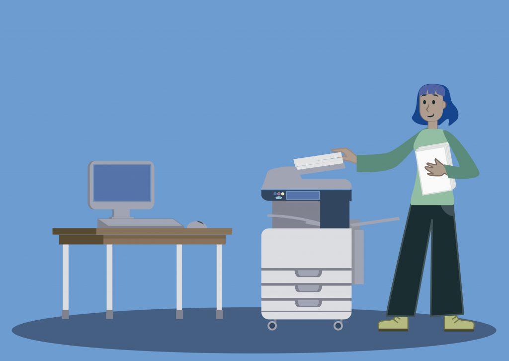 1. Coloca los documentos en la bandeja de entrada
