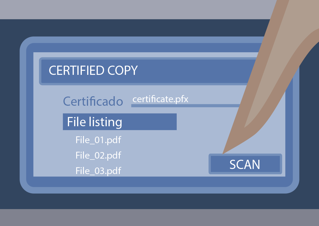 3. Indicate how to digitize and start the process